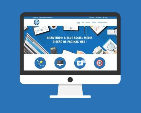 Rediseño Página Web Blue Social Media