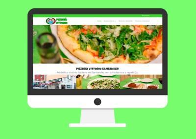 Página Web Pizzería Vittorio Santander
