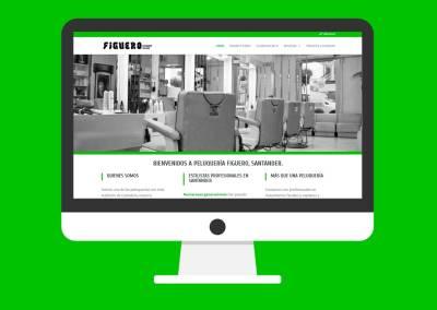 Página web Peluquería Figuero Santander