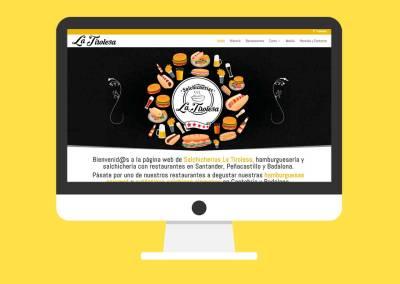 Página Web Salchicherías La Tirolesa