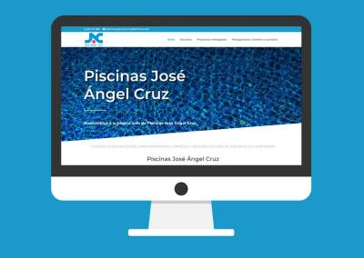 Página Web Piscinas José Ángel Cruz