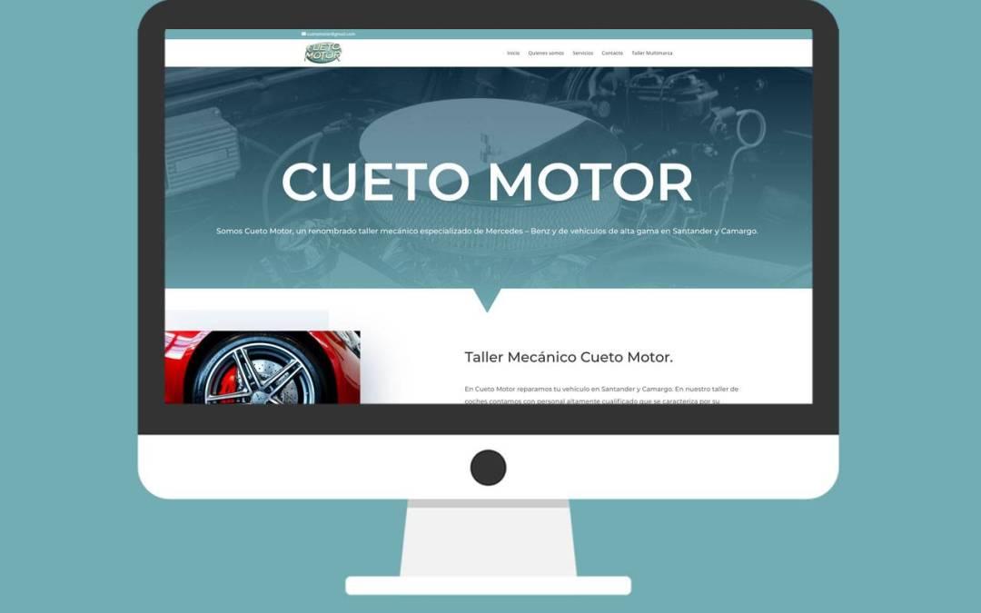 Página Web Cueto Motor