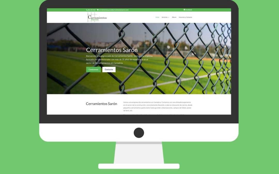 Página Web Cerramientos Sarón Cantabria
