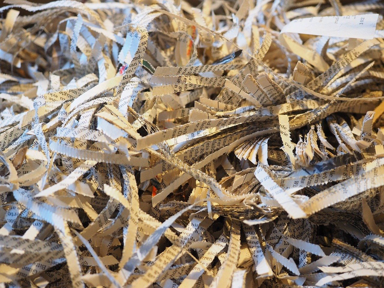 Shredded paper, indicating a failed recruitment plan