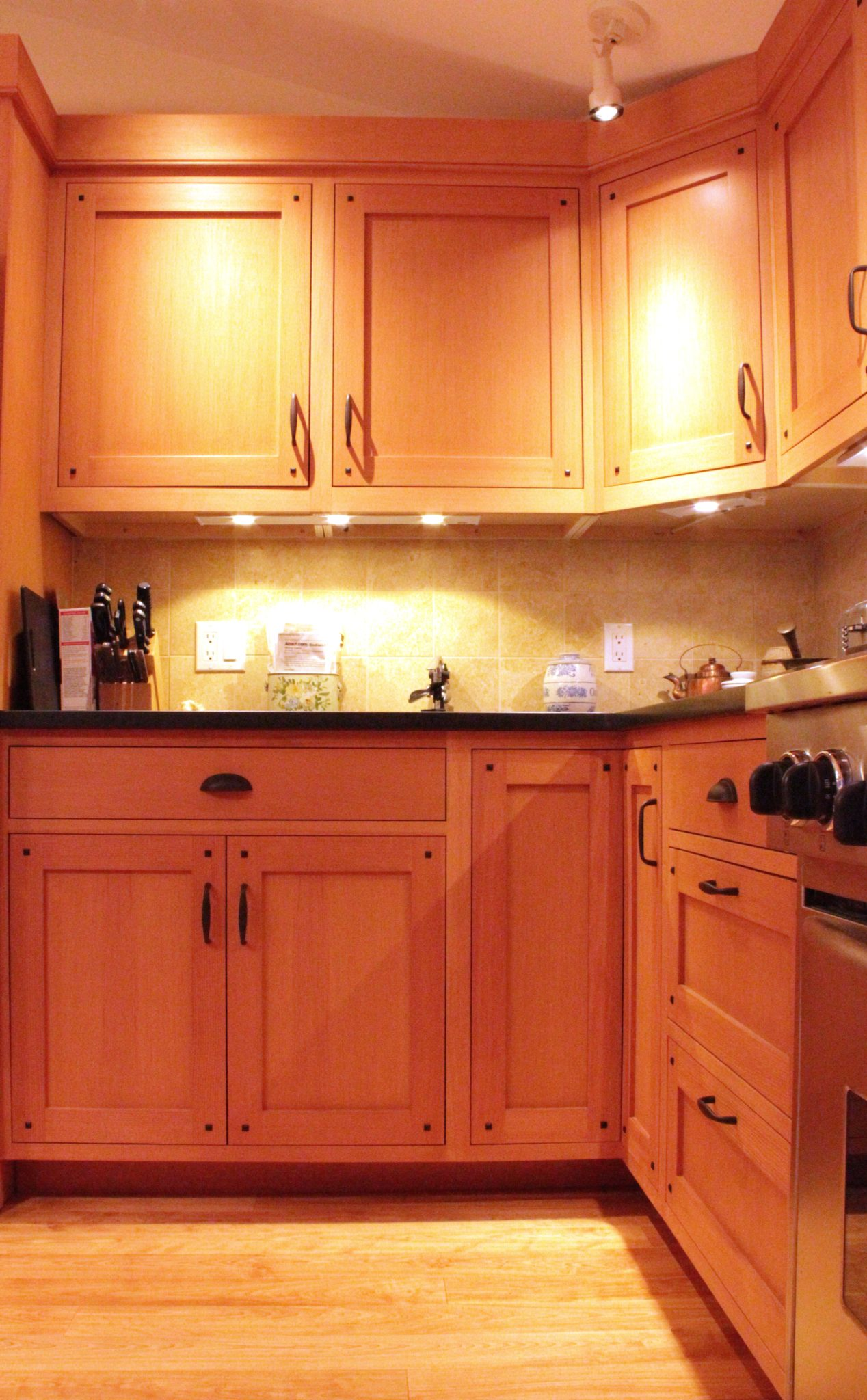 Arts and crafts style kitchen cabinetry, maine cabinet ...