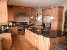 Stained maple cabinetry Maine