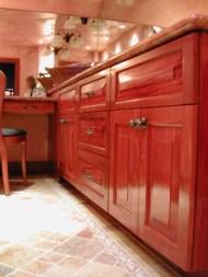 Wood Vanity, Mahogany Vanity, custom woodwork Maine