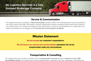SC Logistics Marketing Materials