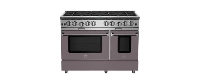 48-inch Platinum Series Range from BlueStar in Platinum Grey
