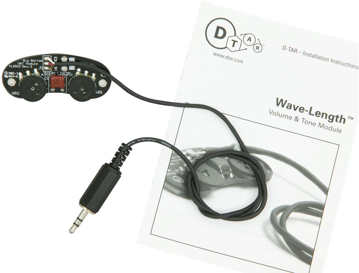 D Tar Wavelength Under Saddle Guitar Pickup W 18v Preamp
