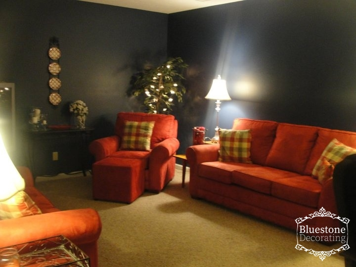 Staged Family Room by Crystal Ortiz, Bluestone Decorating
