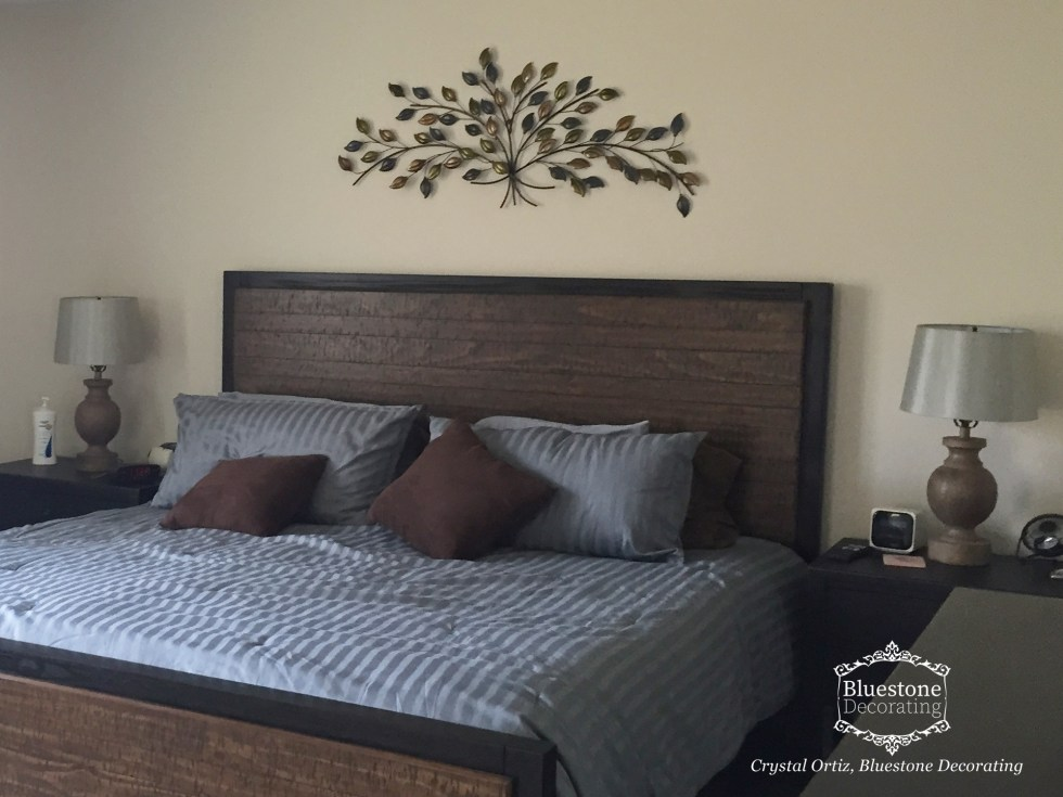Master Bedroom art selection by Crystal Ortiz, Bluestone Decorating Portfolio