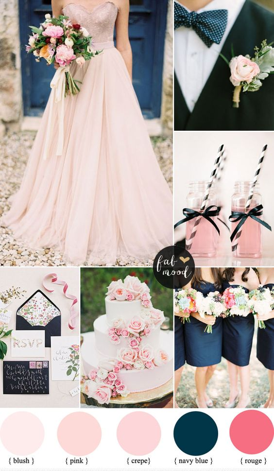 Pink with Navy. Photo from fabmood.com