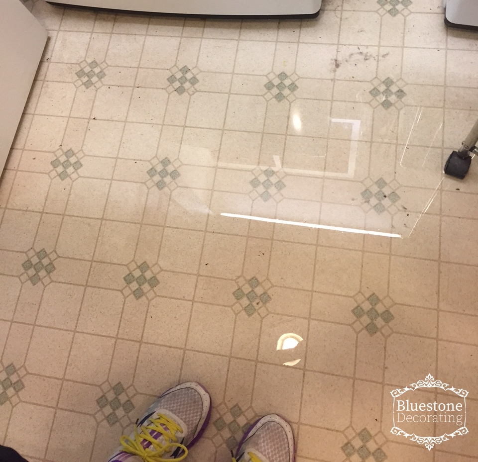 Imagine my surprise at finding a flood in my laundry area...
