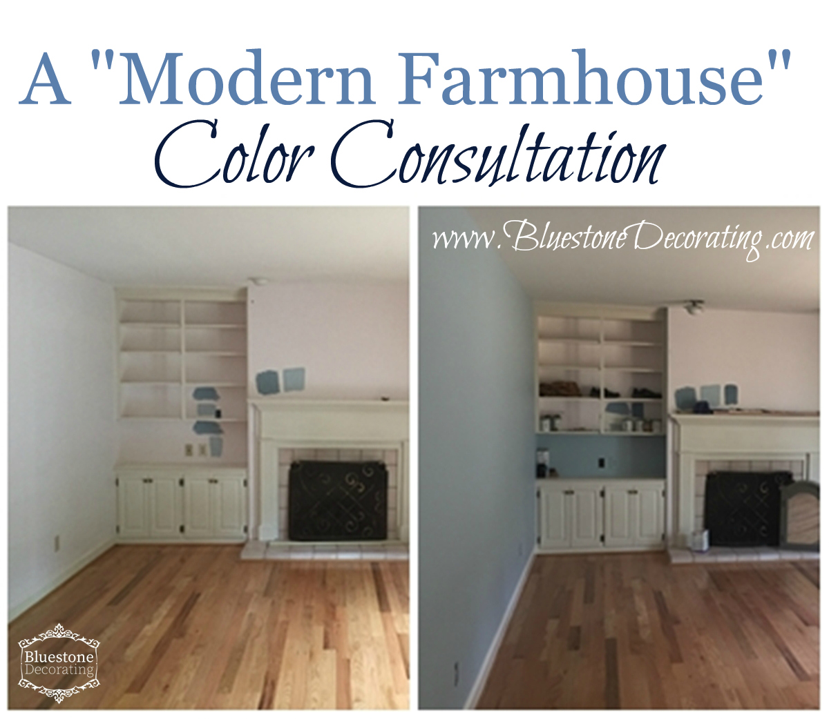A Modern Farmhouse Color Consultation Helps Client Find