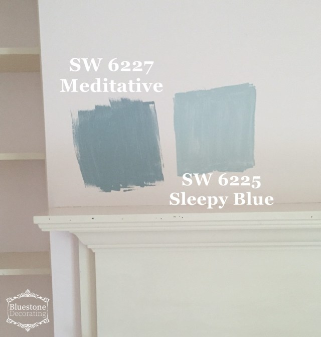Modern Farmhouse Color: SW 6227 Meditative, 6225 Sleepy Blue