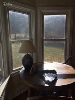 The bay window had this table & chairs sitting in it, which I relocated to the game room.