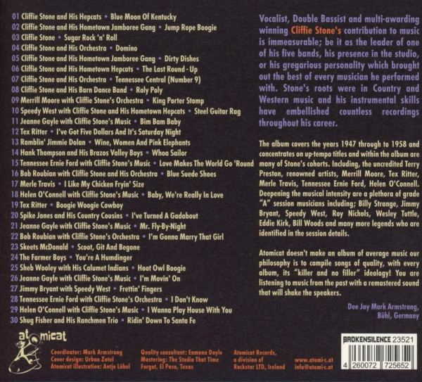 Various Artists - Cliffie Stone The Legendary Capitol Records Double Bassist And More!-back