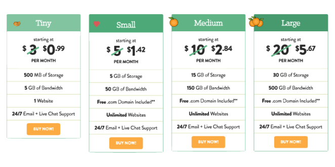 a small orage-coupon hosting