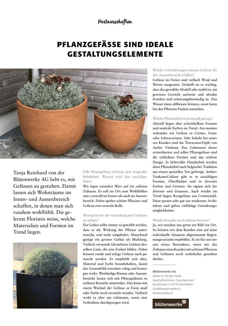 Pflanzgefässe als Gestaltungselemente