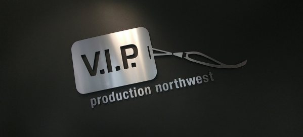 VIP Production Northwest logo designed by Blue Tiger Studio