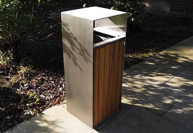 Blueton Street Furniture Timber Litter Bins