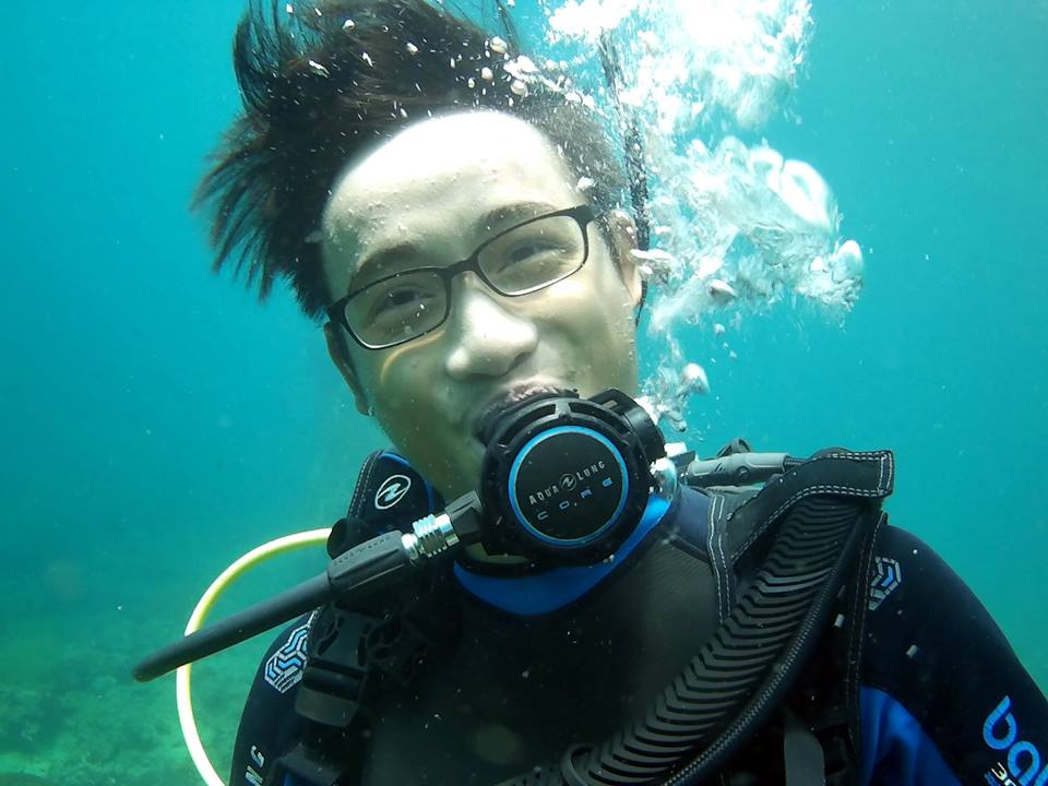 our team tae , dive team, divemaster instructor Thailand