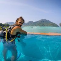 pool, scuba review phi phi island