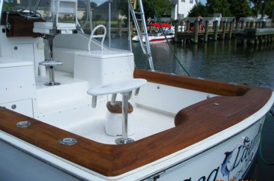 Custom Teak Coaming-Complete