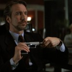 "Rickman portrayed Hans Gruber in his first major blockbuster film, ""Die Hard""."