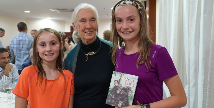 Sophie & Claire meet Jane Goodall