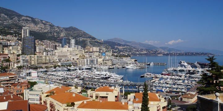 View of the harbour in Monaco