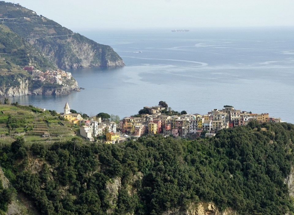 Residents of Corniglia can almost wave to Manarola in the distance