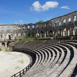 When first built, the amphitheatre sat up to 23,000 people