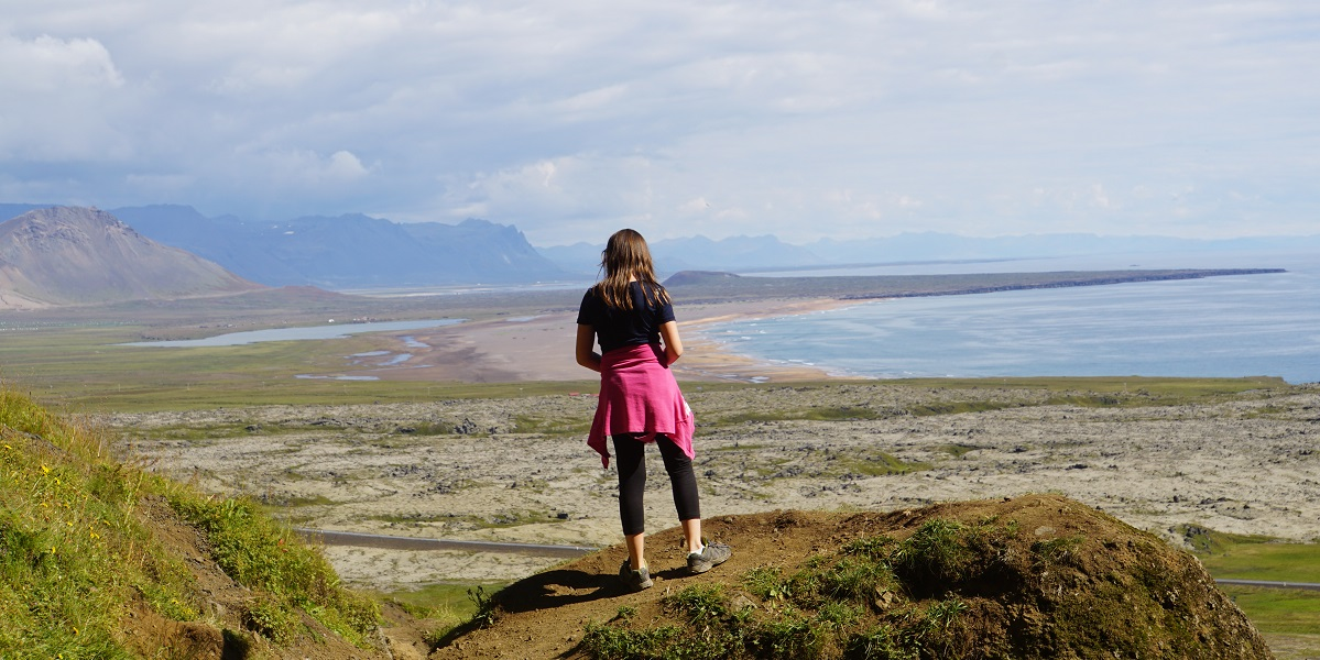 Claire looks out over the Snaefellsnes Peninsula