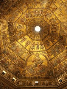 Images of interior of Baptistery  Florence