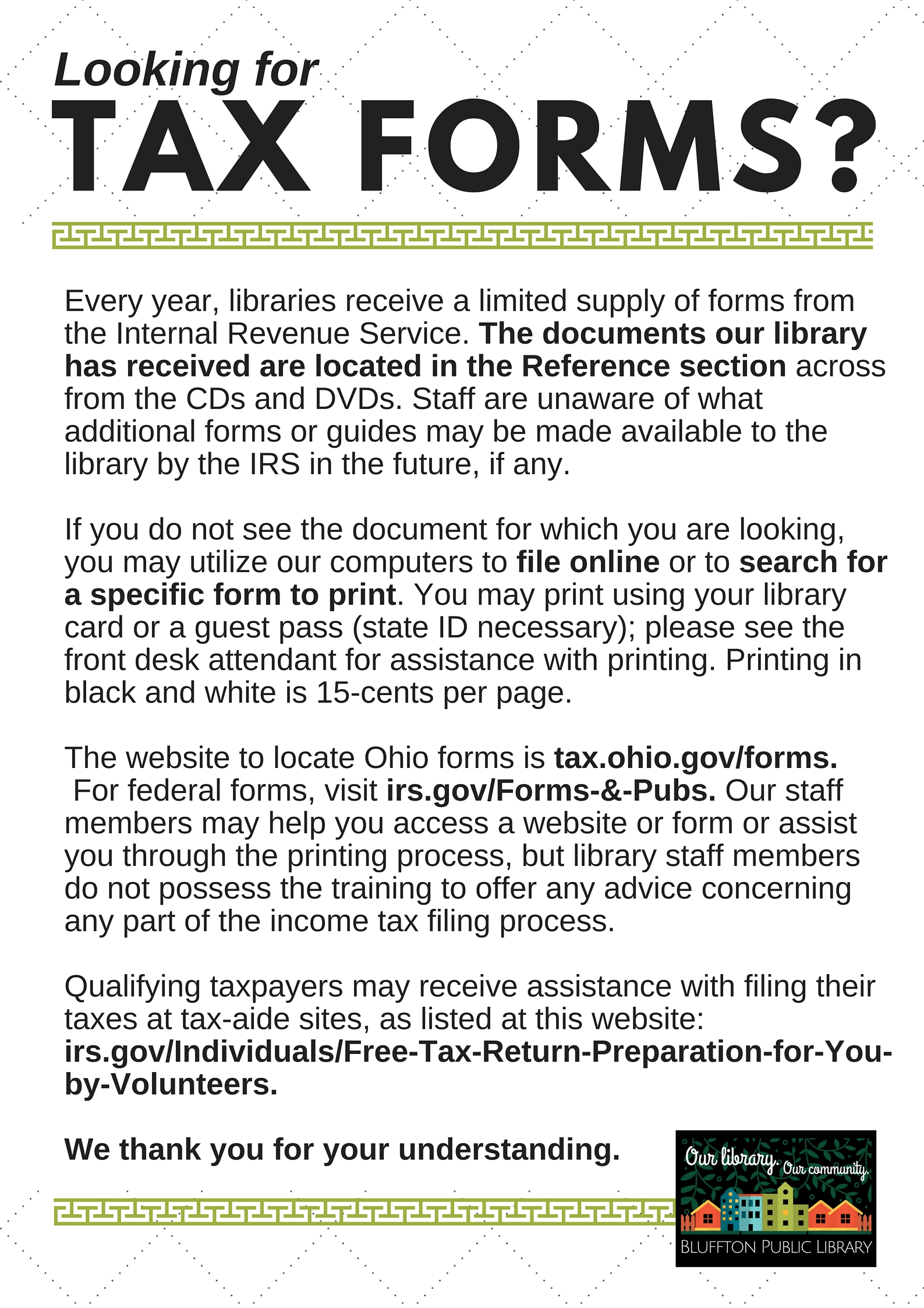 Irs Reduces Number Of Tax Forms Available At Libraries