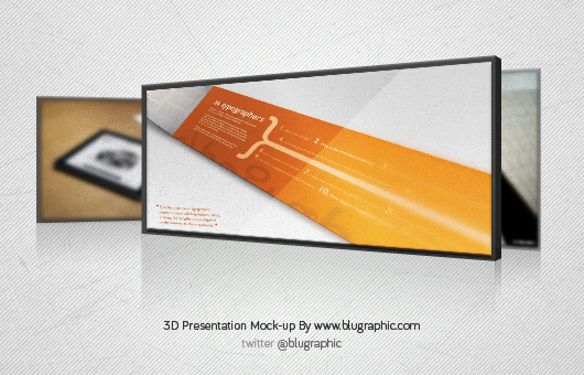 3D Presentation Mock-up (Psd)