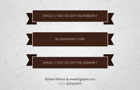 3 Stylized Ribbons (Psd)