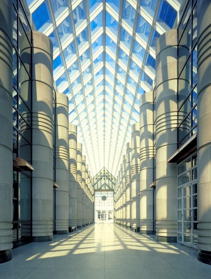 Atlantic City Office Building atrium