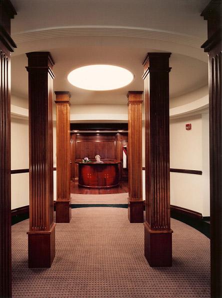 Presidents Office Stockton University entrance hallway