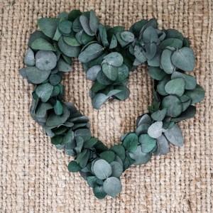 herz aus eukalyptus