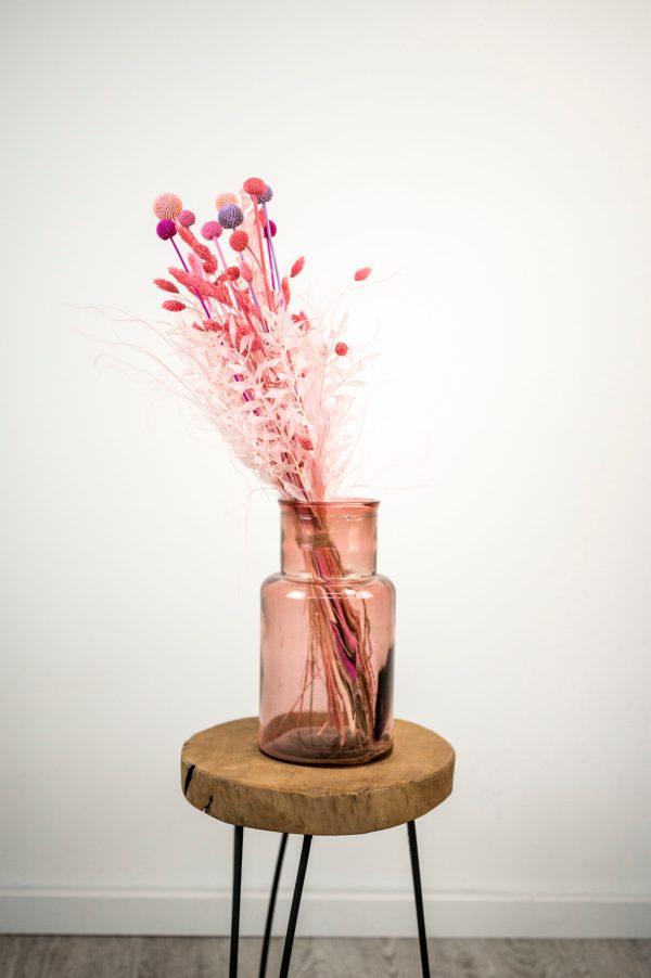 rosa Trockenblumenstrauß