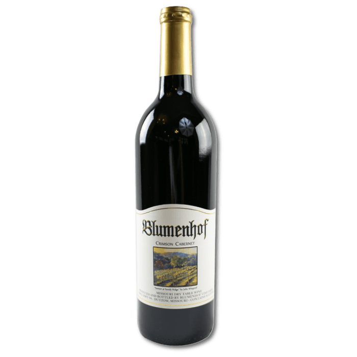 Crimson Cabernet - Blumenhof Winery Dry Red