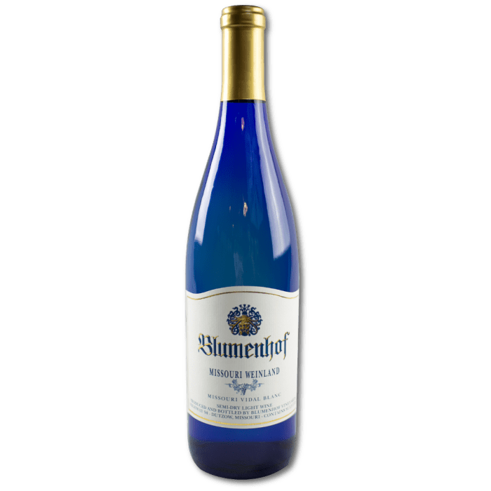 Missouri Weinland - Semi Dry White Wine at Blumenhof Winery