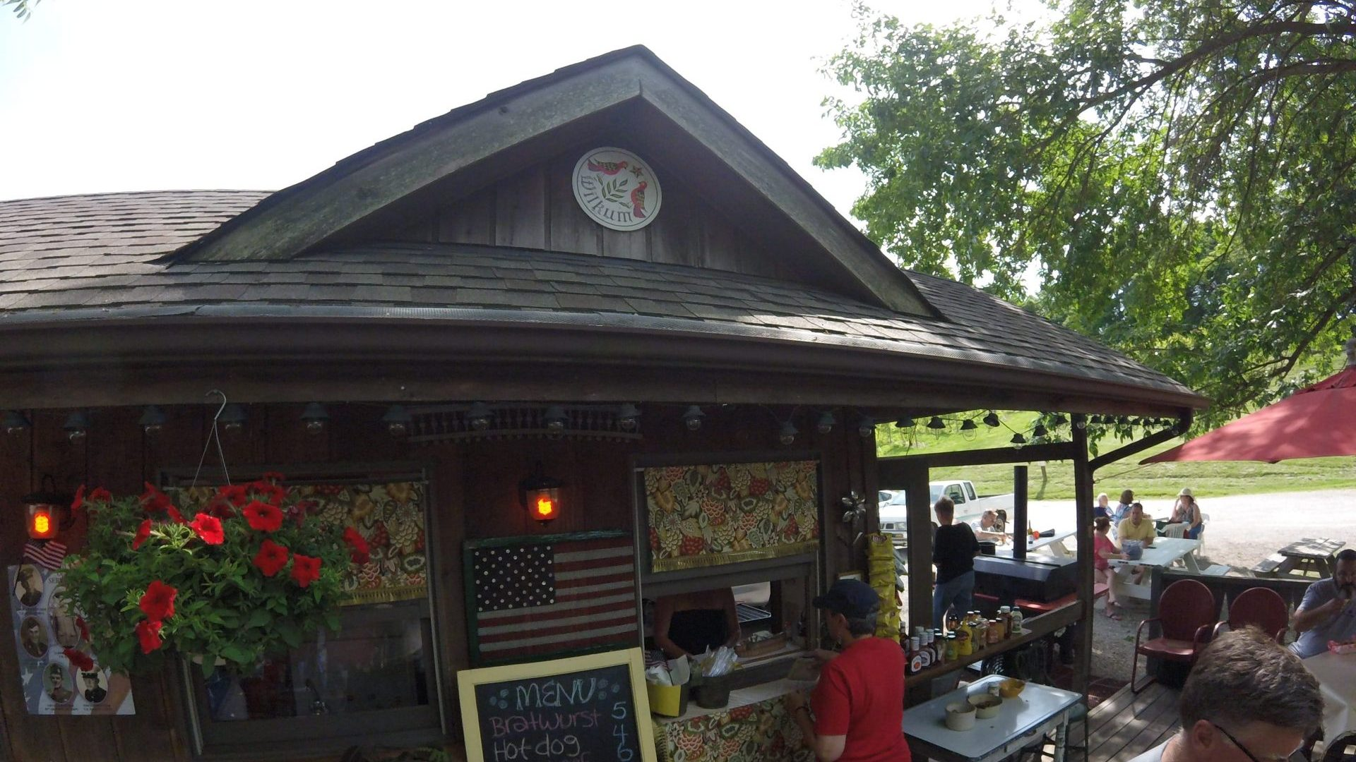 The Brathaus Grill at Blumenhof Winery - Dutzow Missouri. German style food on the weekends!