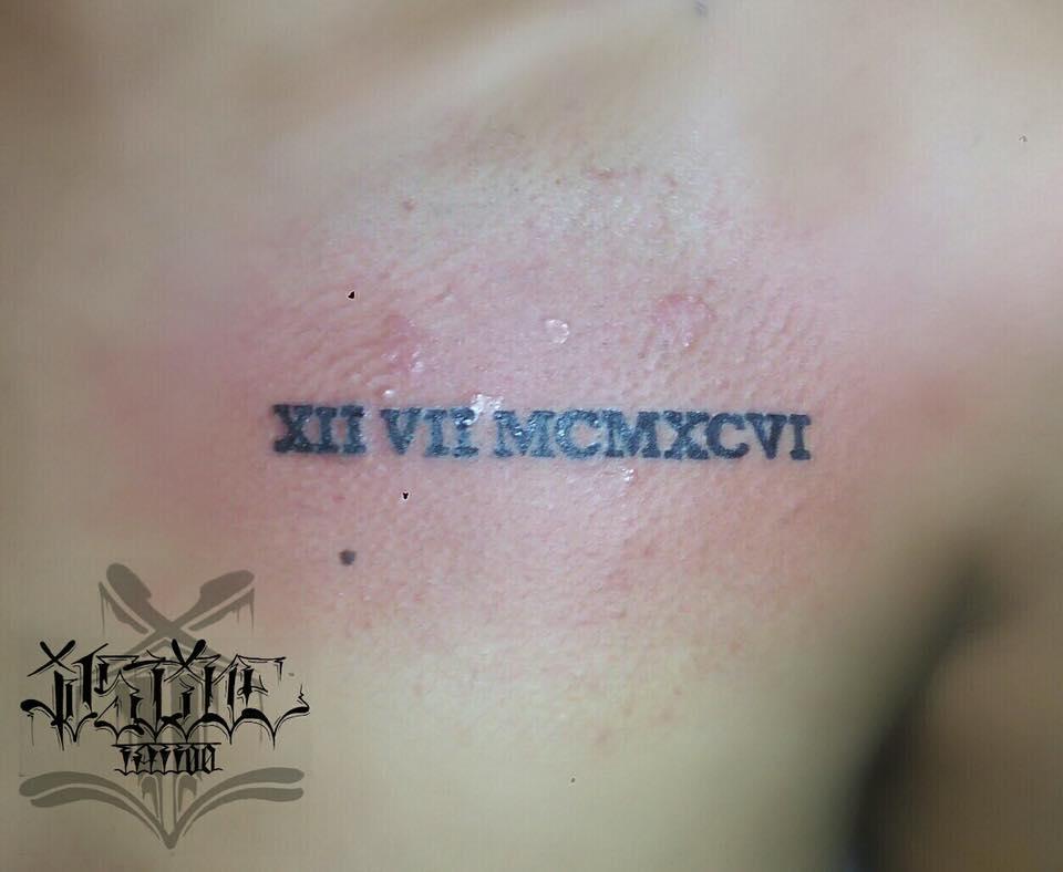 Best Font Roman Numeral Tattoo
