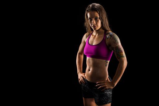 studio lighting for athlete portraits of fitness models