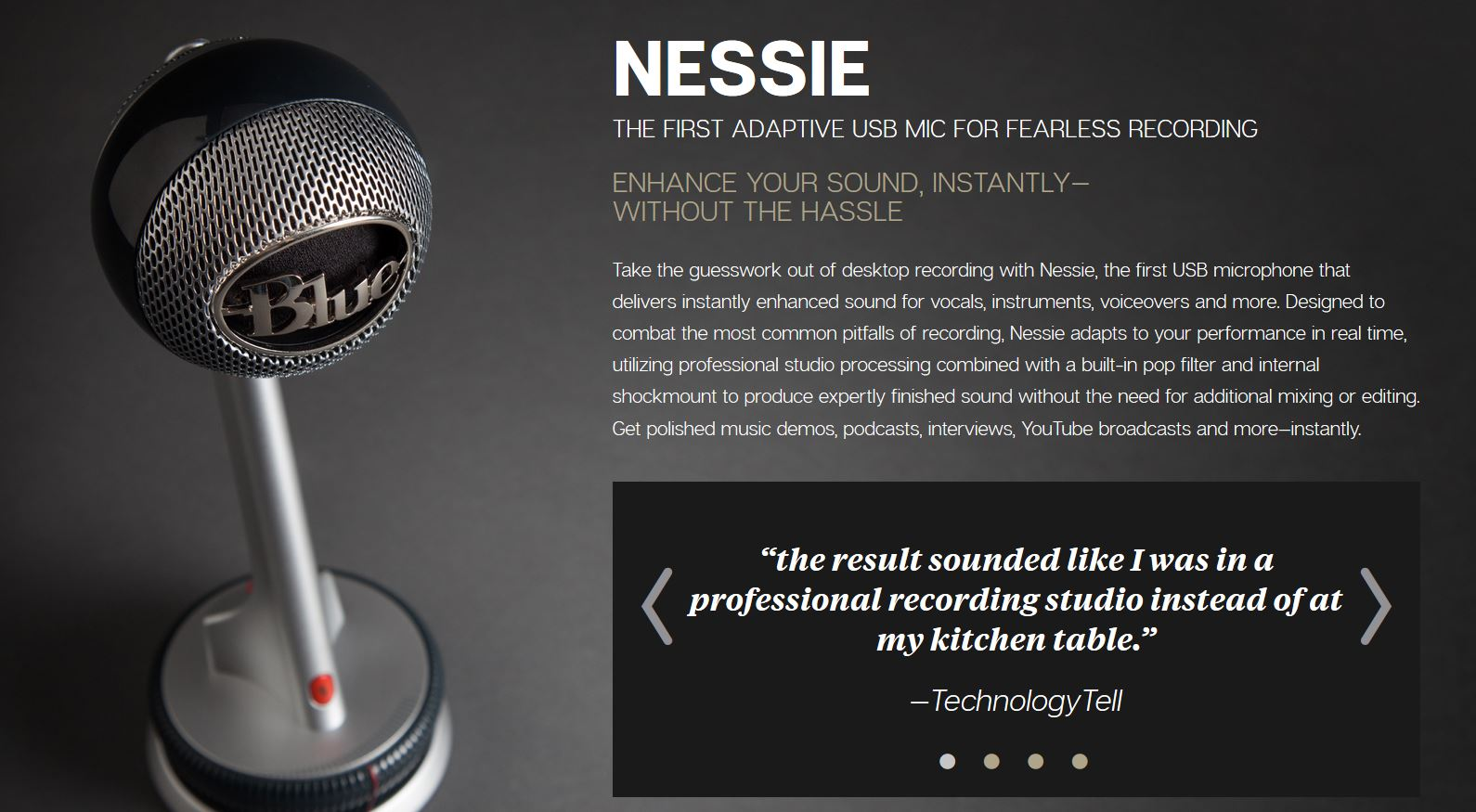 Audio microphone for the best sound on a webcam video conference or webinar.