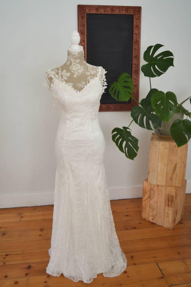 Sheath Danel wedding dress